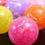 balon latex polos dan sablon ( printing ) ulang tahun