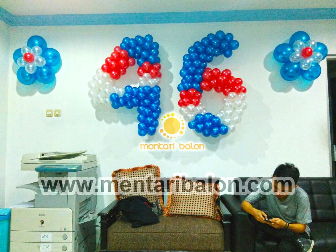 dekorasi balon angka dan bunga