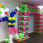 dekorasi balon natak dan tahun baru