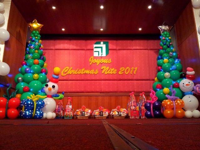dekorasi balon natal dan tahun baru murah