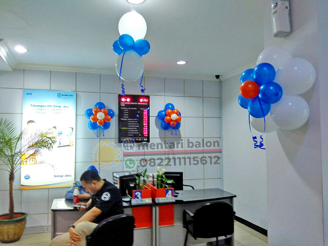 jasa balon dekorasi bank