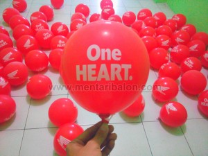 sablon balon one heart