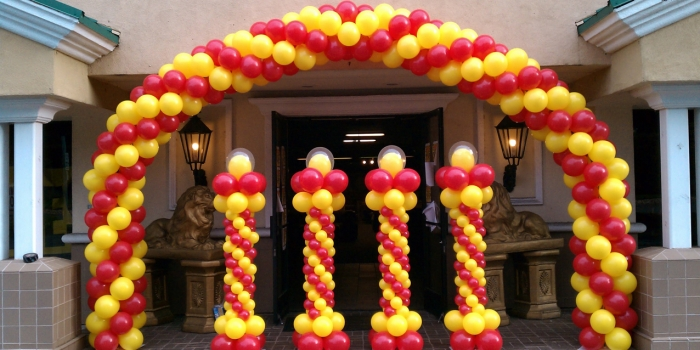 standing balon untuk dekorasi balon dari mentari balon