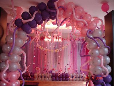 dekorasi balon ulang tahun balon gate