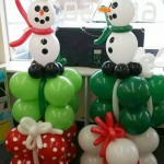 snowman gifts christmas party decorations balloon