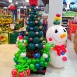 balon dekorasi natal dan tahun baru