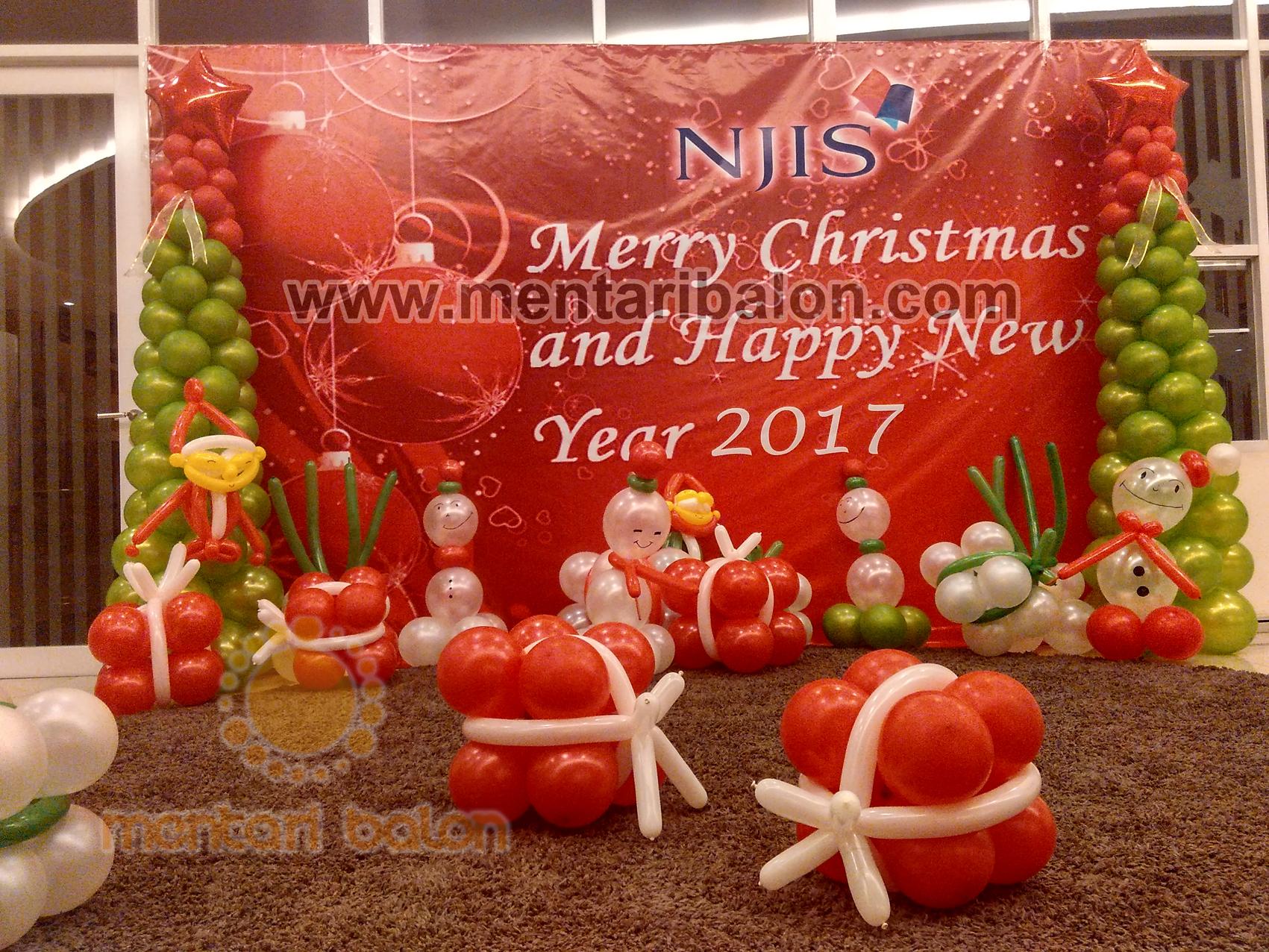 Balon Dekorasi Natal Dan Tahun Baru Mentari Balon Pusat