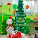 balon pohon natal