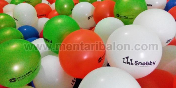 balon printing / balon sablon murah Jabodetabek di mentari balon