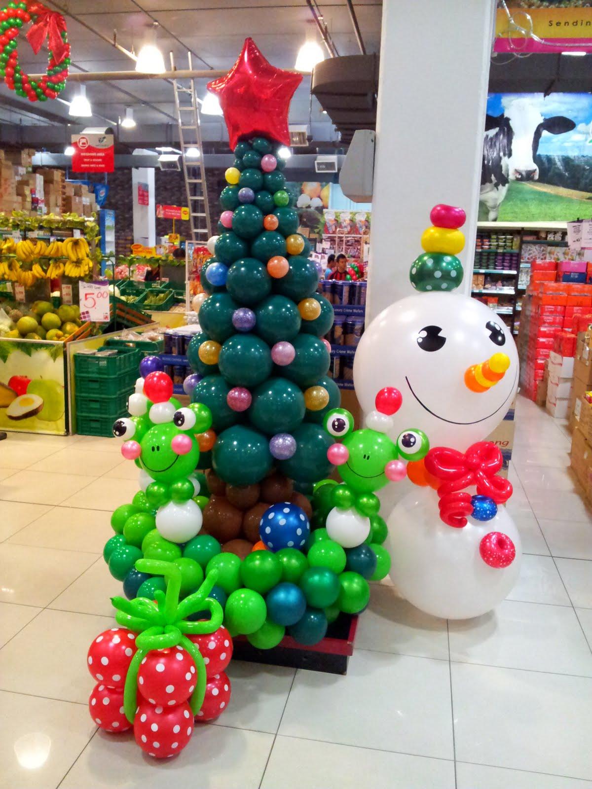 dekorasi balon untuk natal