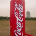 balon botol coca cola