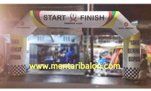 Balon gapura start finish