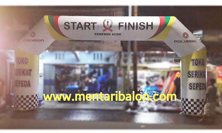 Balon gapura start finish