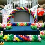 balon dekor panggung