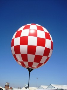 balloon red white