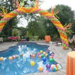 balon dekorasi kolam