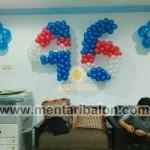 dekorasi balon angka