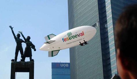 Balon zeppelin remote control | mentari balon