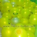 hasil sablon balon