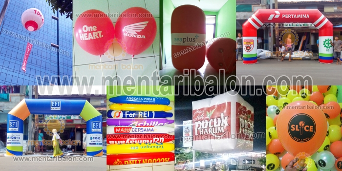 BALON ADVERTISING MURAH / BALON PROMOSI | MENTARI BALON