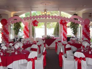 balon dekorasi wedding indoor