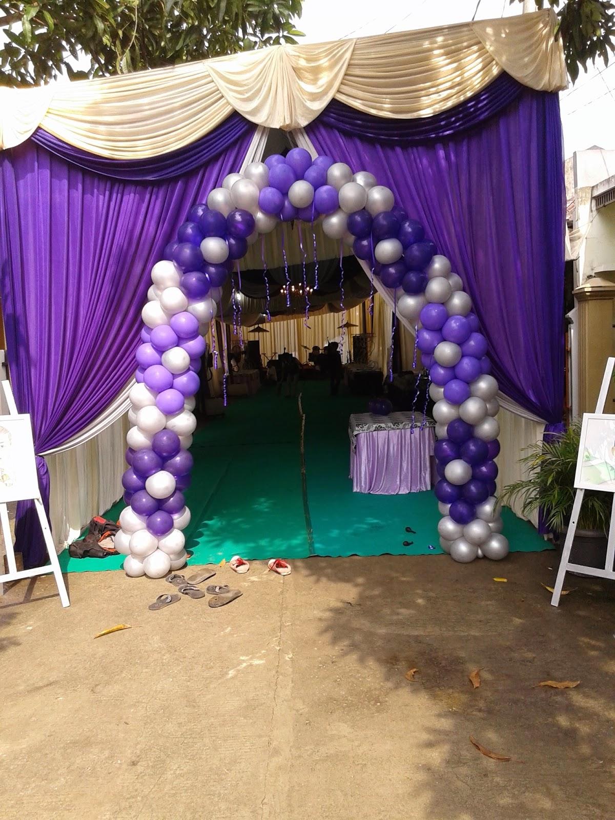 balon gate dekorasi pernikahan