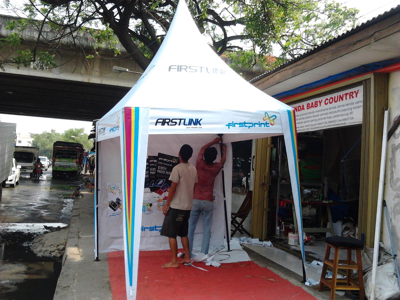 tenda lipat full branding