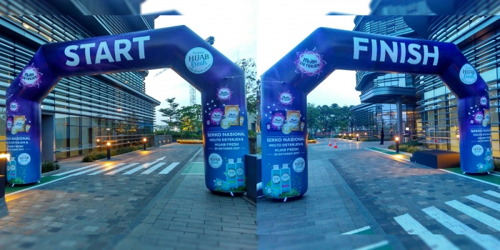 Balon Gate Gapura Start Finish / Inflatable Gate | Mentari Balon