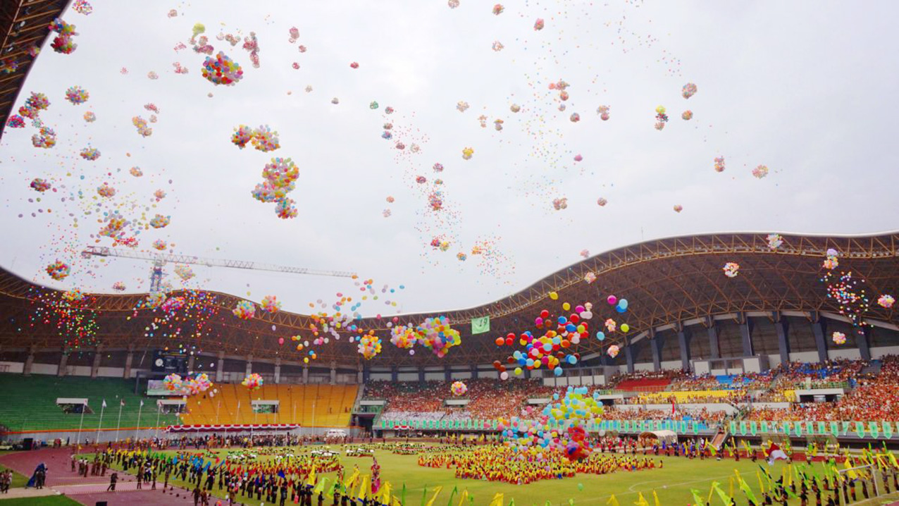 balon pelepasan sea games
