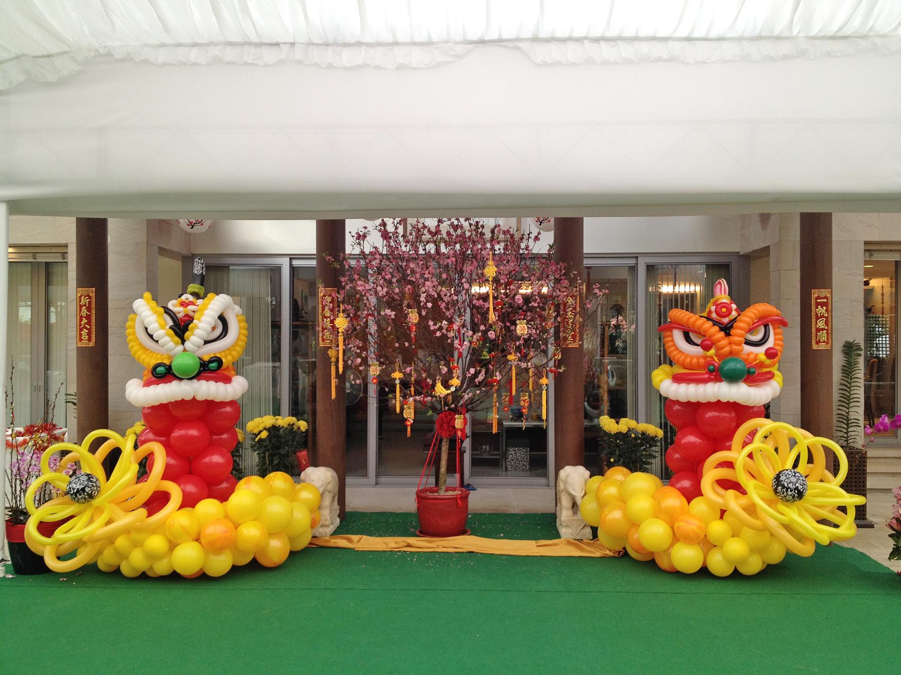 balon dekorasi tahun baru china