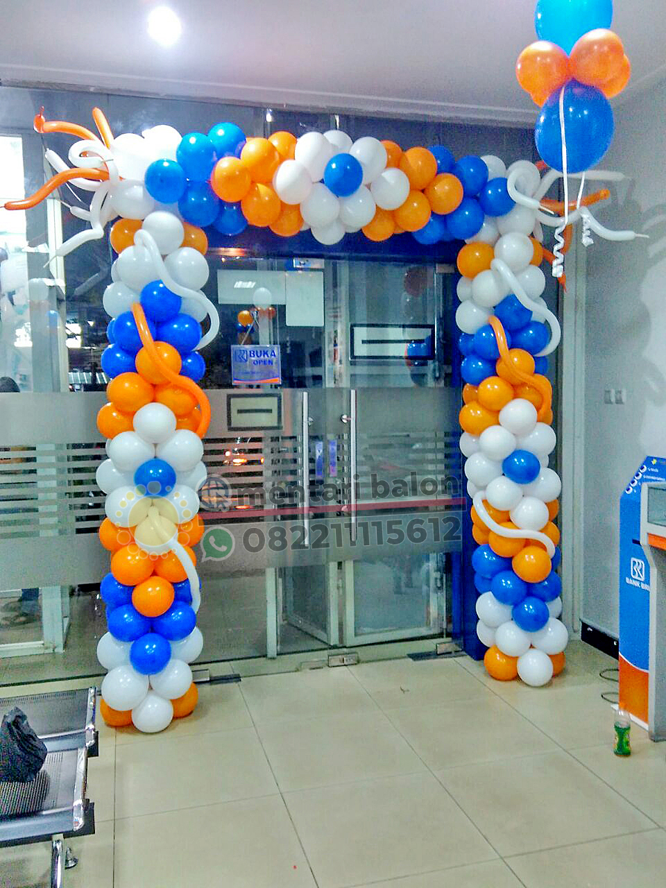 balon gate dekorasi bank bri