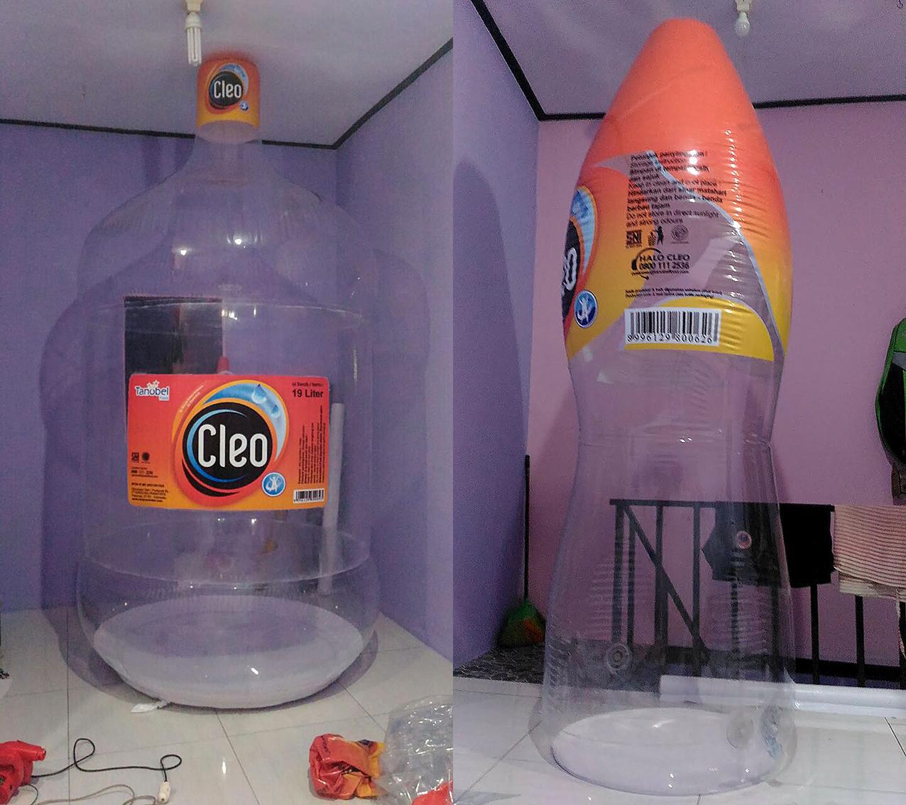 balon botol cleo