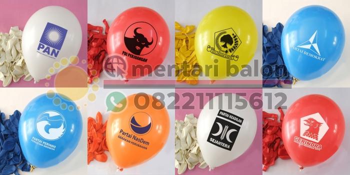 Balon Sablon Partai Pemilu Di Indonesia | Mentari Balon