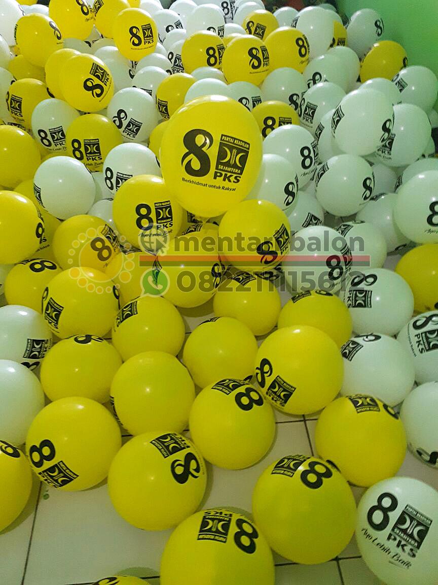 sablon balon partai pks